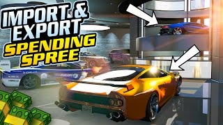 GTA Online: Import/Export DLC - GIANT $75,000,000 SPENDING SPREE! (Buying All New Cars & Garages)