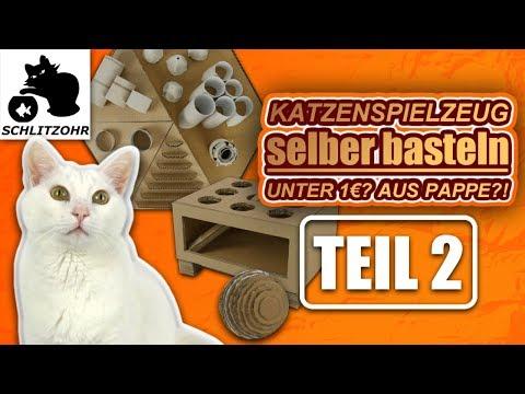 🔥Katzenspielzeug selber basteln | Unter 1 €? | Teil 2/2 | Diy Katzenspielzeug Hacks | Fummelbrett