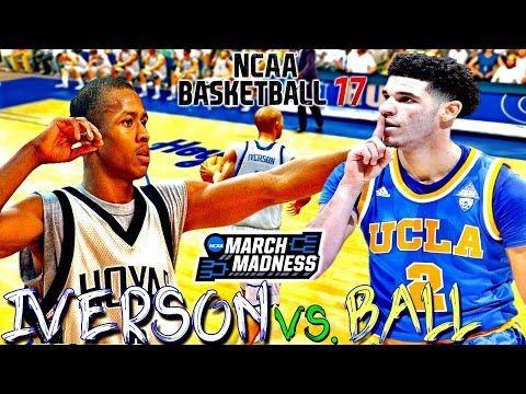 NCAA Basketball 10 | ⛹🏽  95 Allen Iverson vs. Lonzo Ball | These Guys Put On A Basketball Clinic!!!