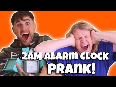 I WOKE MY MUM UP WITH 100 ALARM CLOCKS AT 2AM PRANK!!