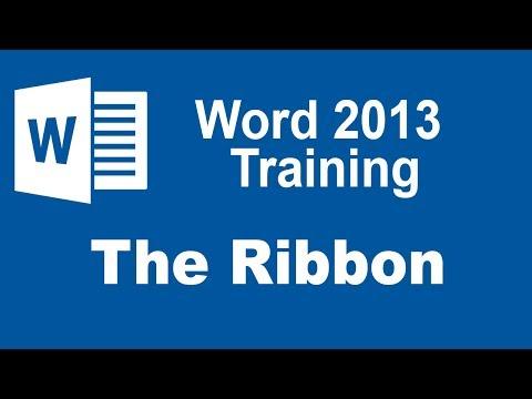 Microsoft Word 2013 Training - The Ribbon - YouTube