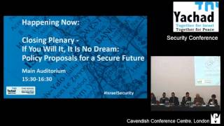 Yachad-NIF Security Conference: Closing Plenary