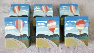 熱氣球風景皂 - Balloon Festival Scenery Handmade Soap For The Soap Challenge Club (January, 2020) - 手工皂
