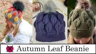 Autumn Leaf Beanie   FREE Crochet Pattern Tutorial