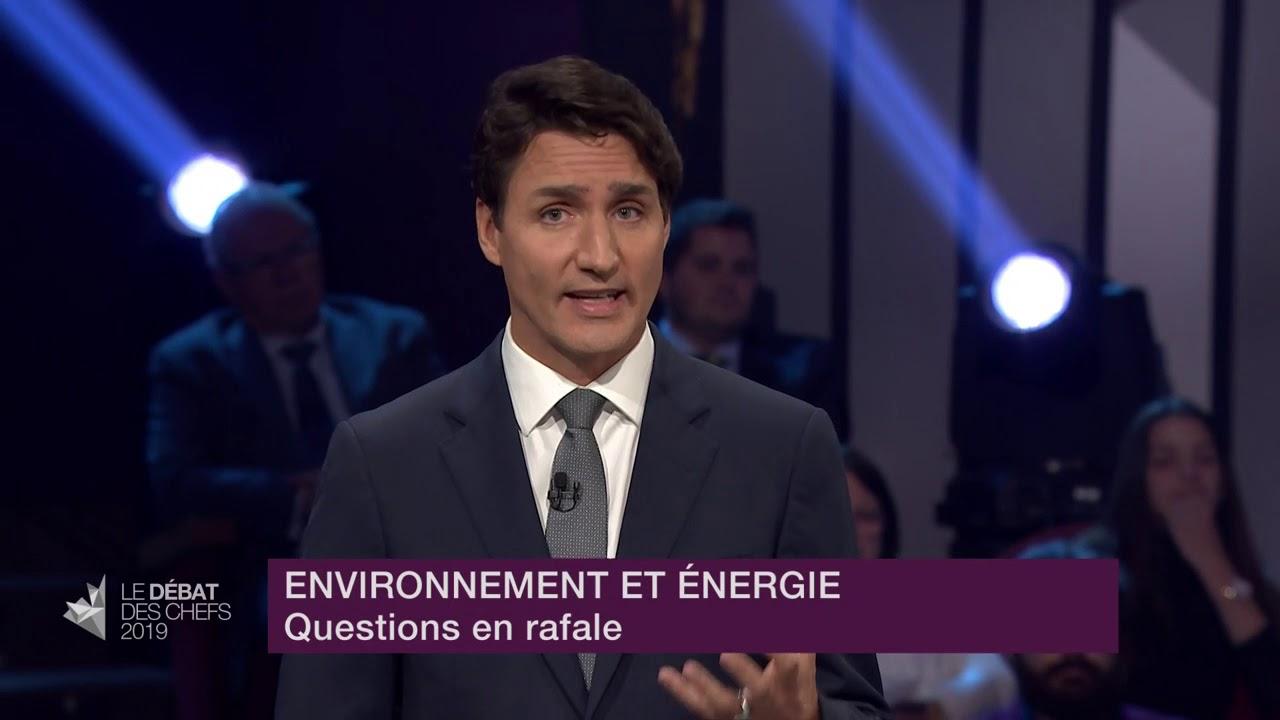 Justin Trudeau répond à la question du modérateur sur les subventions à l'industrie pétrolière