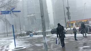 Poland Diaries: Snowfall in Warsaw