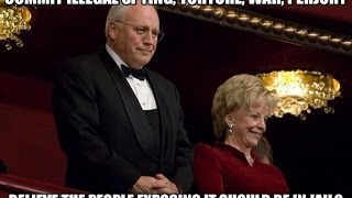 Lynne and Dick Cheney Confronted