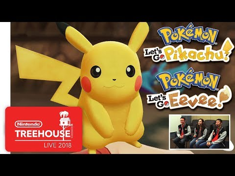 Pokémon: Let's Go, Pikachu! and Pokémon: Let's Go, Eevee! – Gameplay – Nintendo Treehouse: Live