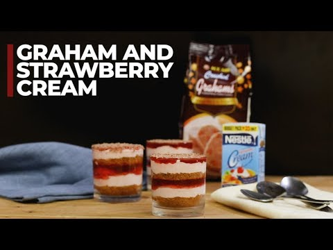 Graham And Strawberry Cream