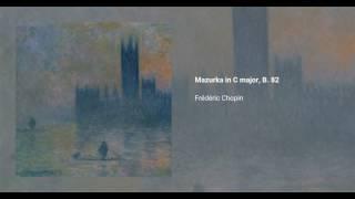 Mazurka in C major, B. 82