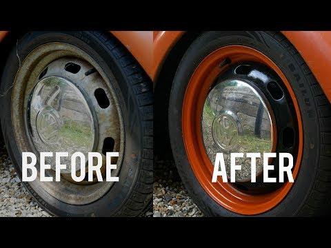 How I Painted My Custom Bug Wheels | VW Beetle Vlog | EP3