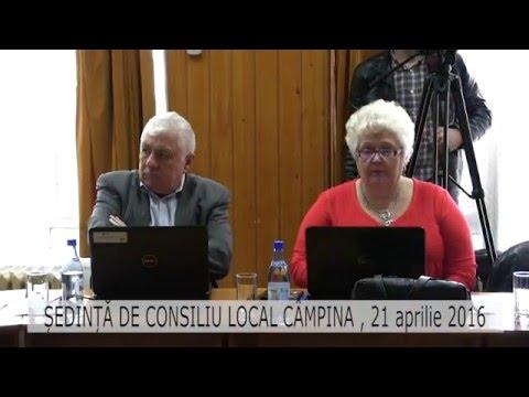 Ședință Consiliul Local Câmpina – 21 aprilie 2016