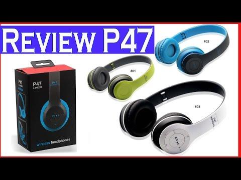 Review Audífonos Diadema Bluetooth P47 con MicroSD FM Manoslibres