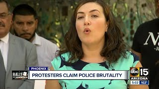 Protesters claim police brutality for use of tear gas