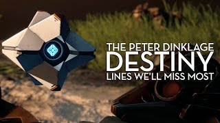 The Peter Dinklage Destiny Lines We'll Miss Most