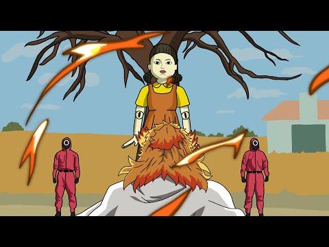 當炎柱煉獄杏壽郎參加魷魚遊戲