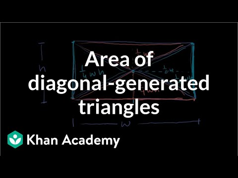 Area of diagonal-generated triangles (video) | Khan Academy