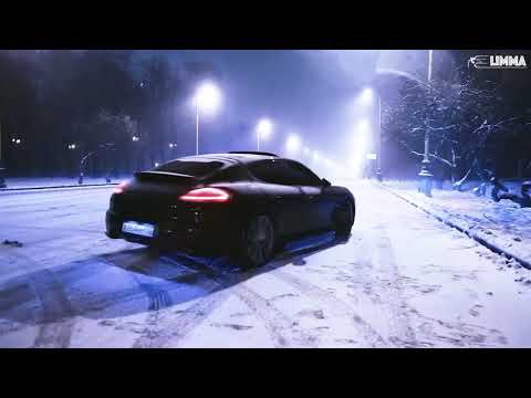 Porsche Panamera 2014  night driving and playing in snow (MOSCOW) black panther nebezao (ft rafal)