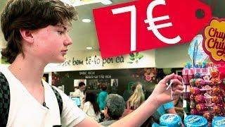 Что купит школьник на 7 ЕВРО в ПОРТУГАЛИИ? Бич обед в ЕВРОПЕ!