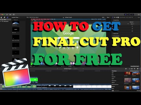 How to Get Final Cut Pro X For FREE! 2021