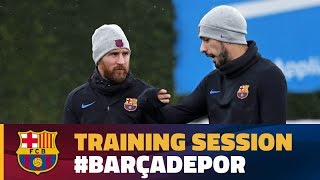 Recovery session after the victory in Villarrreal