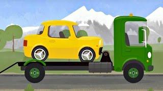 Car Doctor. Yellow car and McWheelie. Car's repair Cartoon. Kids animations. Kids cartoons.