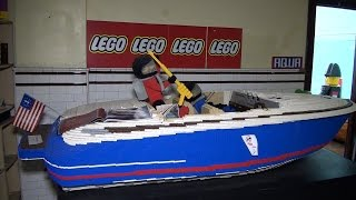 Nathan Sawaya's LEGO Chris Craft boat | Kholo.pk
