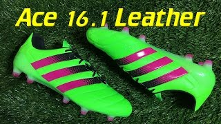 K-Leather Adidas ACE 16.1 Solar Green/Shock Pink - Review + On Feet