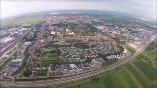 Waalwijk West vanuit de lucht.