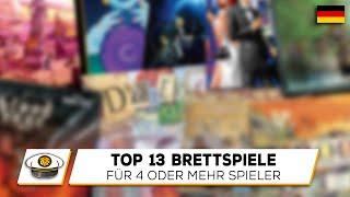 Top 13 Brettspiele für 4 oder mehr Spieler