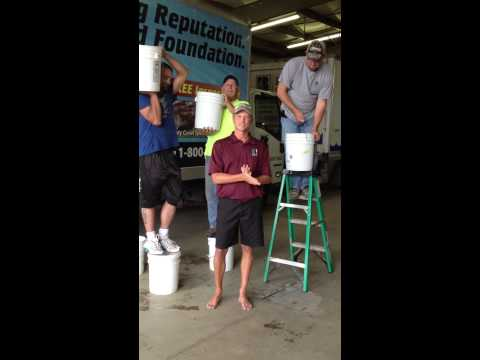 Bakers Waterproofing owner Brian Baker was nominated by his friend Will Noble to complete the ALS Ice Bucket...