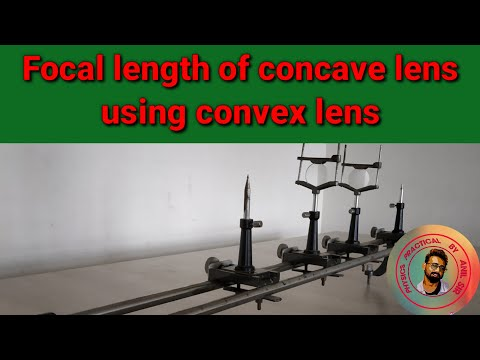 Focal length of concave lens using convex lens    Physics practical    by anil sir   
