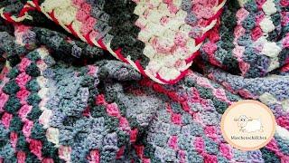 Tagesdecke C2C Muster 150x200 cm / Decke häkeln Groß / Maschenschäfchen