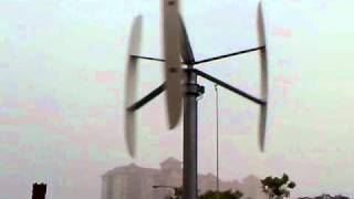 preview picture of video '4.2 kwe/h Vertical Wind Turbine @ the Castello in Puchong , Malaysia .  www.vertical-wind.com'
