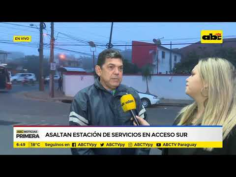 Asaltan estación de servicios en Acceso Sur