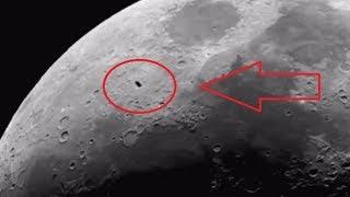 НЛО возле Луны. Хаббл снял черное НЛО ВИДЕО. UFO