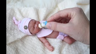 Feeding and Bedtime for Miniature Silicone Baby Pennie
