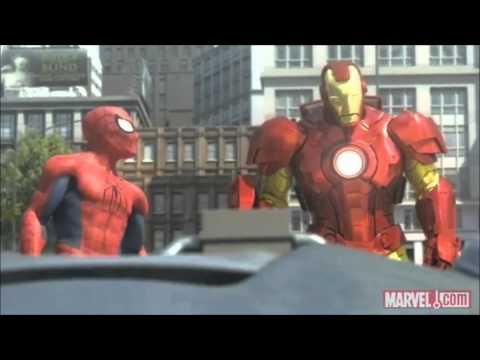 Spiderman, Iron Man and the Hulk