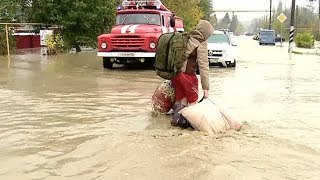 Наводнение на Кубани: в Хадыженске перекрыт мост через реку Пшиш. Прямое включение