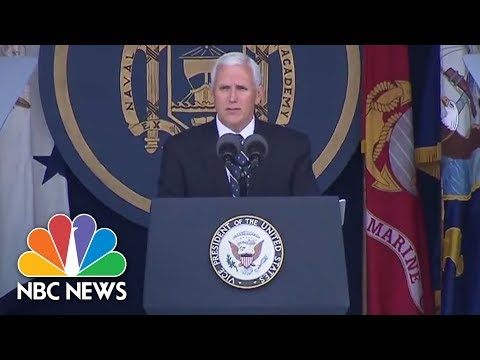 Vice President Mike Pence Speaks At Naval Academy Graduation | NBC News