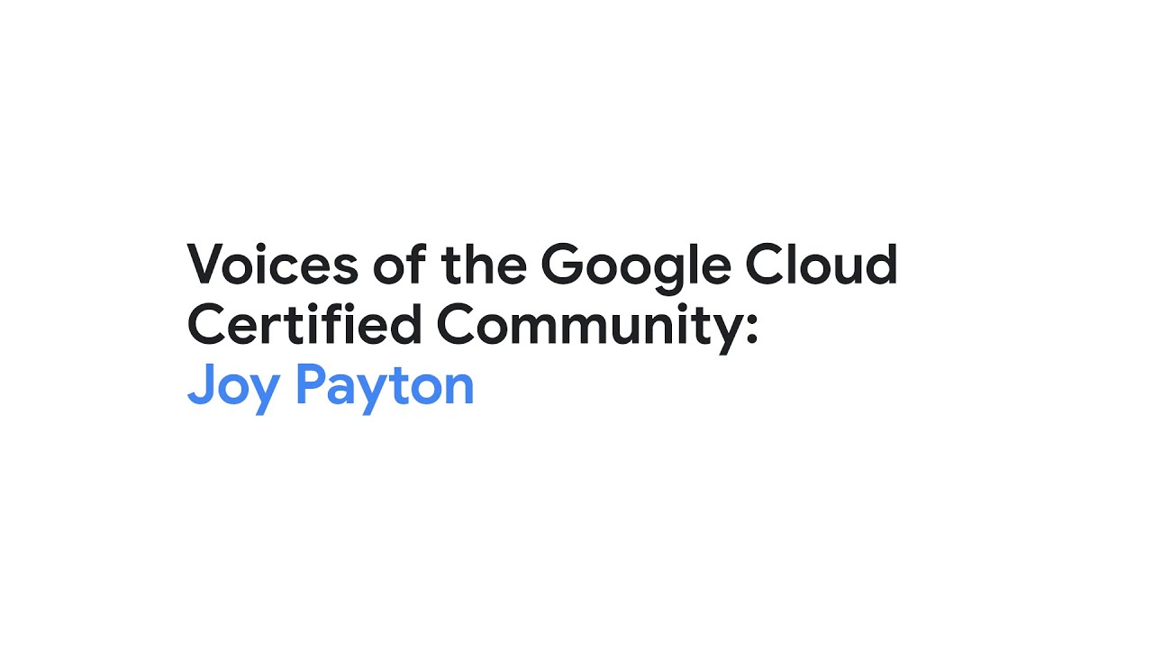 Joy Payton is a Data Engineer and Educator at the Children's Hospital of Philadelphia as well as an adjunct faculty member at Yeshiva University. Joy discusses with Evan Jones, Google Cloud Technical Curriculum Developer, how she's using her Google Cloud Associate Cloud Engineer certification to educate communities on cloud computing and increase diversity, equity, and inclusion in tech.