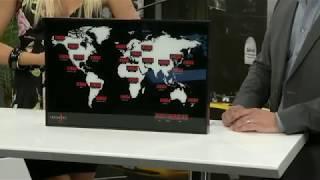 Lunartec Digitale Weltzeit-Uhr mit 24 Weltstädten