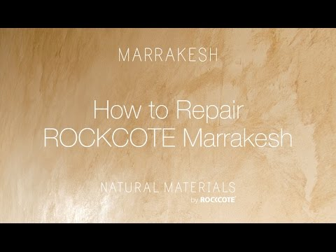 How to Repair ROCKCOTE Marrakesh