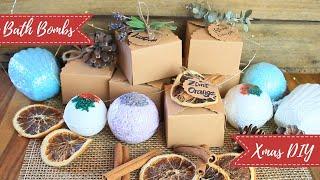 Badekugeln selber machen - Lavendel, Eukalyptus-Pfefferminz, Zimt-Orange - #DIY-Weihnachtsserie