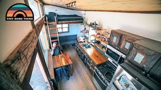 Living Mortgage Free In His Rustic DIY Tiny Home With His Son - Tons Of Clever Woodworking Ideas