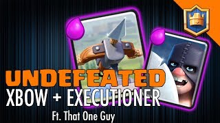 UNDEFEATED XBOW DECK! 65 Grand Challenges In a row! Ft. That One Guy - Clash Royale