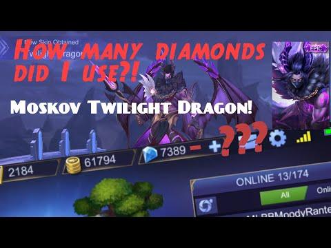 Moskov Twilight Dragon - Lucky Box Epic Skin - Mobile Legends Bang Bang!