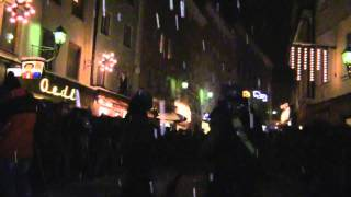 preview picture of video 'Ferus Pass beim Perchtenlauf in Hallein 2010'