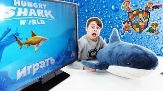 ДАНЯ играет в HUNGRY SHARK WORLD! Обзор приложения.