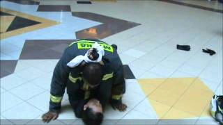 Fireman Drag Methods to rescue someone from a smoke filled room.wmv